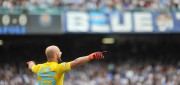 Napoli' goalkeeper Pepe Reina Gonzalo during the Italian Serie A soccer match Napoli-Fiorentina at the San Paolo stadium in Naples, Italy, 18 October 2015. ANSA / CESARE ABBATE
