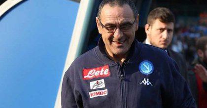 Napoli's head coach Maurizio Sarri during the Italian Serie A soccer match between Napoli and Bologna at San Paolo Stadium in Naples, 28 January 2018. ANSA/ CESARE ABBATE
